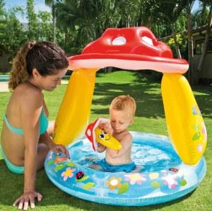 Baby Pool Pilz mit, Sonnenschutz, 102x89cm | Iden