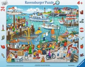 Ein Tag am Hafen 24p-24 T. Rahmenpuzzle | Ravensburger Spielverlag