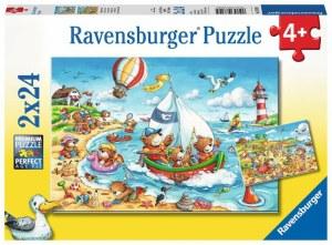 Urlaub am Meer 2x24p-2 X 24 Teile | Ravensburger Spielverlag