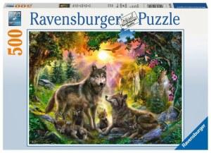 Wolfsfamilie im Sonnenschein 500p-500 Teile | Ravensburger Spielverlag
