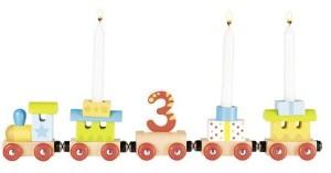 Geburtstagszug, Lok mit 4 Anhängern mit Magnetverbindung | Gollnest