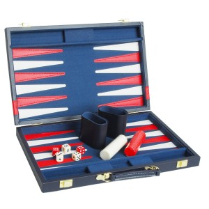 Backgammon 'AZURE' 38 x 24 cm | Weible