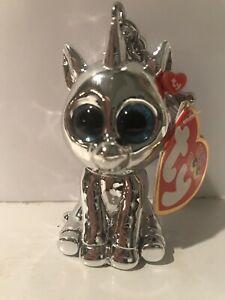 Silver Unicorn Mini Boo Clip | Ty UK