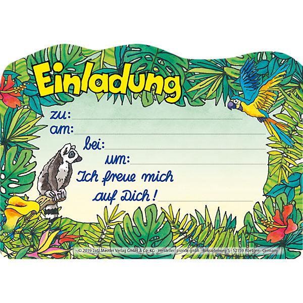 Stanzkarte Einladungs-Set Zoo | Lutz Mauder