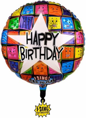 Sing-A-Tune Happy Birthday to You Dots Folienballon P60 verpackt 71 x 71 cm | Amscan
