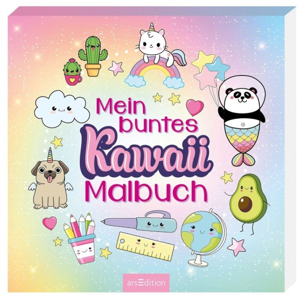 Mein buntes Kawaii-Malbuch   Ars Edition