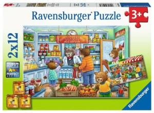 Komm wir gehen einkaufen 2x12p-2 X 12 Teile | Ravensburger Spielverlag