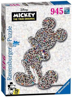 DMM: Shaped Mickey 945pc-1000 T. Silhouette/Holzstruktur | Ravensburger Spielverlag