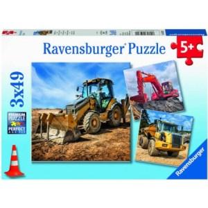 Baufahrzeuge im Einsatz 3x49p-3 X 49 Teile | Ravensburger Spielverlag