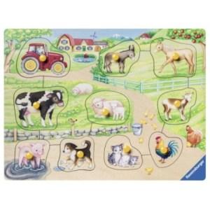 Morgens auf dem Bauernhof 10p-My first wooden puzzle 10 T. | Ravensburger Spielverlag