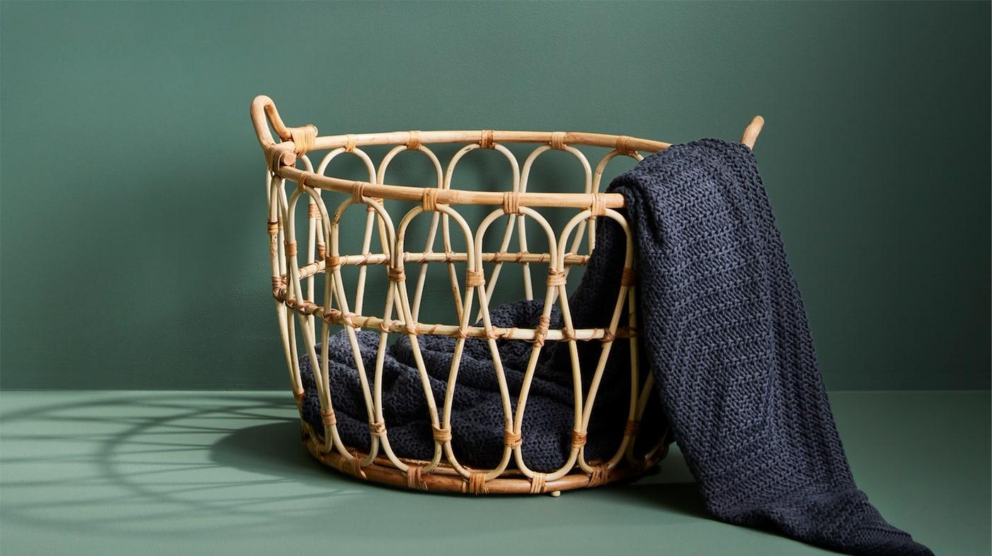 wicker storage baskets ikea