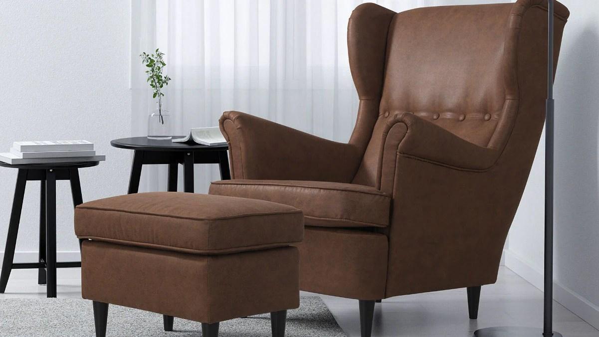 fauteuils similicuir ikea