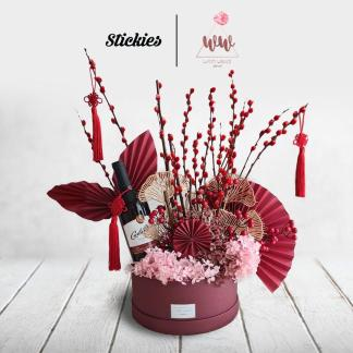 Large Bouquet with Carlo Rossi Red Wine