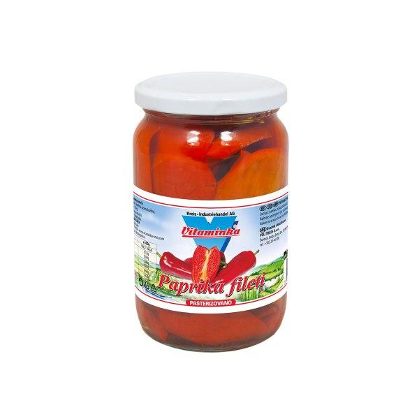 Paprika filet crvena 650g, Vitaminka