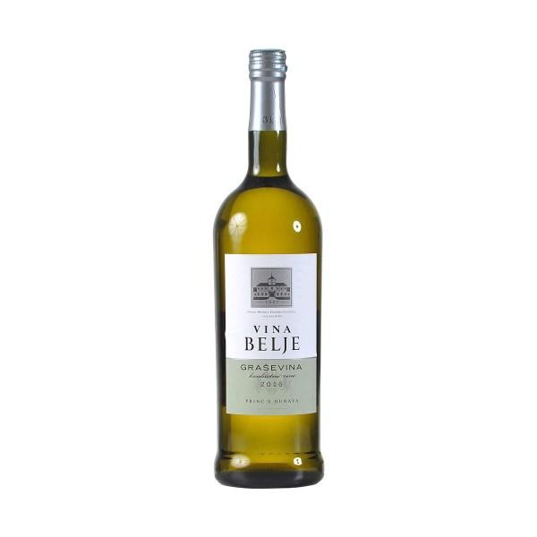 Vino kvalitetno bijelo Graševina 1L, Belje plus