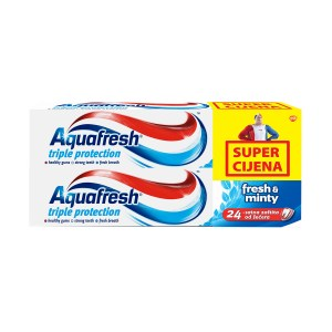 Aquafresh pasta za zube fresh&minty 100ml duo pack