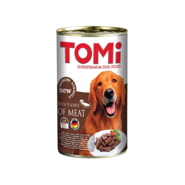 Tomi - hrana za pse 5 vrsta mesa 1200g