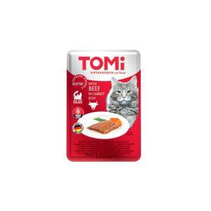 Tomi vrećica za mačke govedina u mrkvi 100g