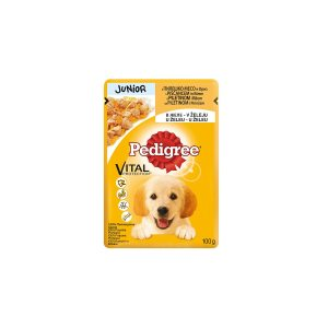 Pedigree Junior s piletinom i rižom u želeu 100g