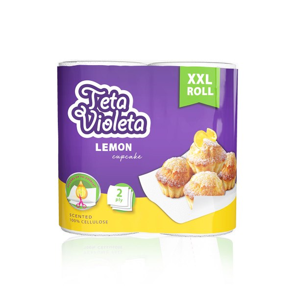 Jumbo ručnici Teta Violeta lemon cupcake XXL 2/1
