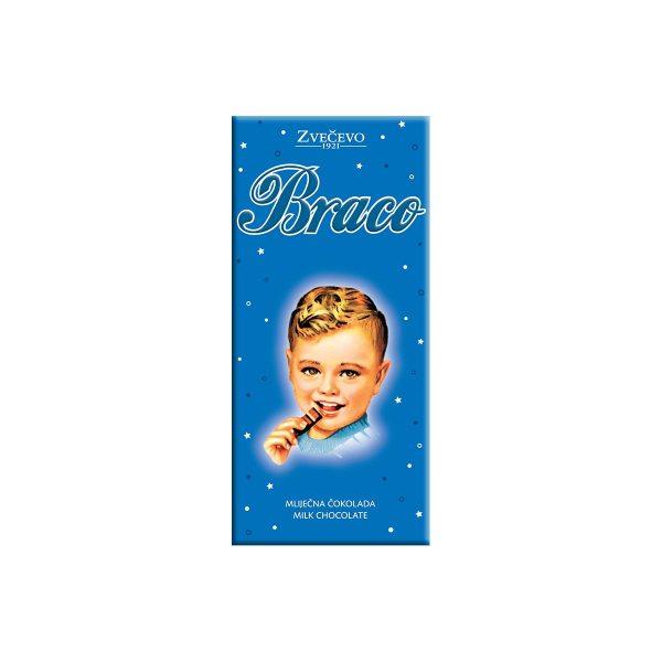 Mliječna čokolada Braco 75g, Zvečevo