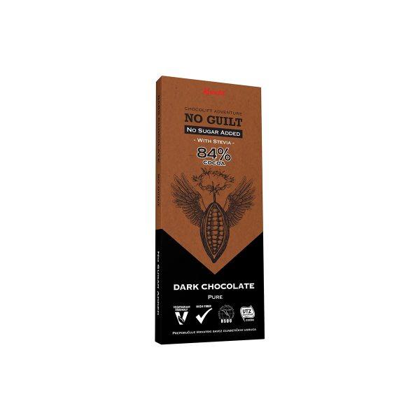 No Guilt tamna čokolada 84% cocoa 80g, Kandit