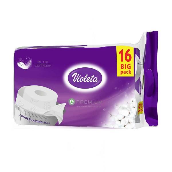 Toaletni papir Violeta Premium bez mirisa, 3sl. 16/1