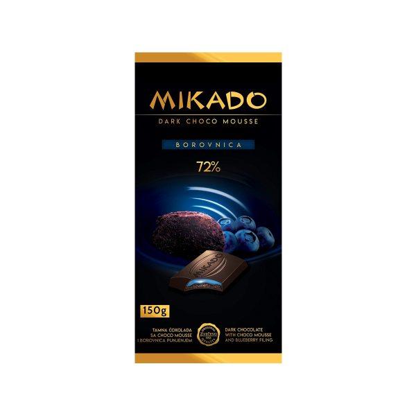 Mikado tamna čokolada s č.mouss. i borovnica 150g, Zvečevo
