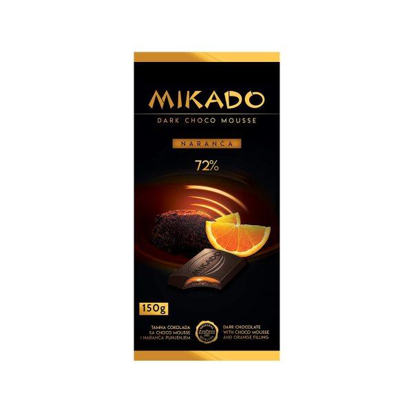 Mikado tamna čokolada s č.mouss., naranča 150g