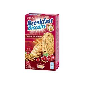 Breakfast biscuits - Cerals & Cranberry 160g, Koestlin