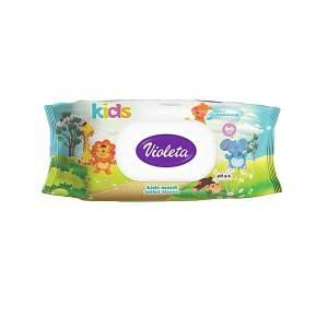 Dječji vlažni toaletni papir 60/1, Violeta