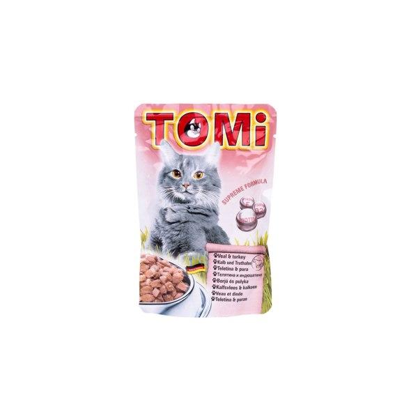 Tomi vrećica za mačke teletina/puretina 100g
