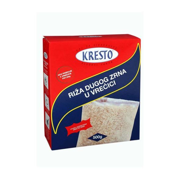 Riža bijela dugo zrno vrećice 4x125g Kresto