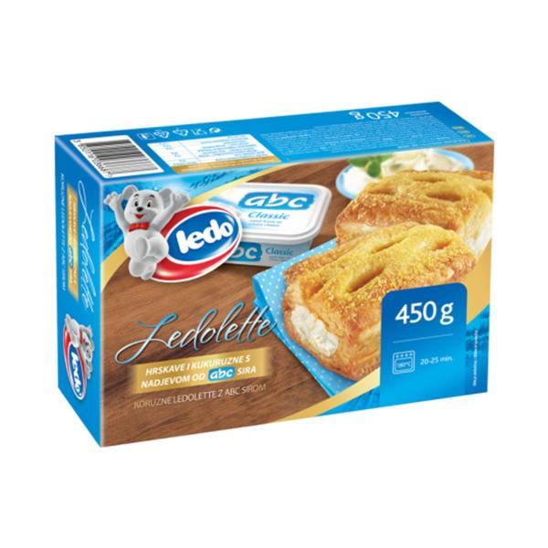 Kukuruzne Ledolette s ABC sirom 450g, Ledo