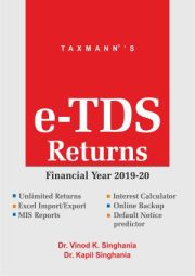 Buy or Renew Taxmann's e-TDS Returns Software for F.Y. 2019-20 at 30% Discount