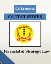 CS Executive Group II Financial & Strategic Law Test Series By Anant Institute