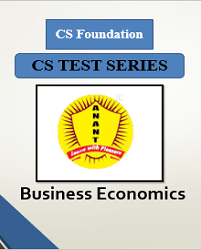 CS Foundation Business Economics Test Series By Anant Institute