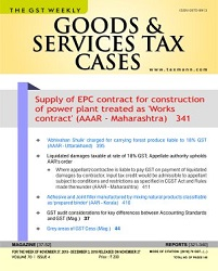 Goods & Services Tax Cases