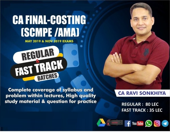 CA Final SCM & PE New Course Fast Track Video Lectures by CA Ravi Sonkhiya