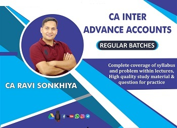 CA Inter Advance Accounting Video Lectures by CA Ravi Sonkhiya