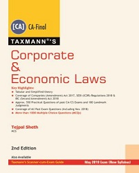 Corporate & Economic Laws - (CA- Final) by Tejpal Sheth