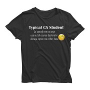 Typical CA Student Half Sleeve Black T-Shirt