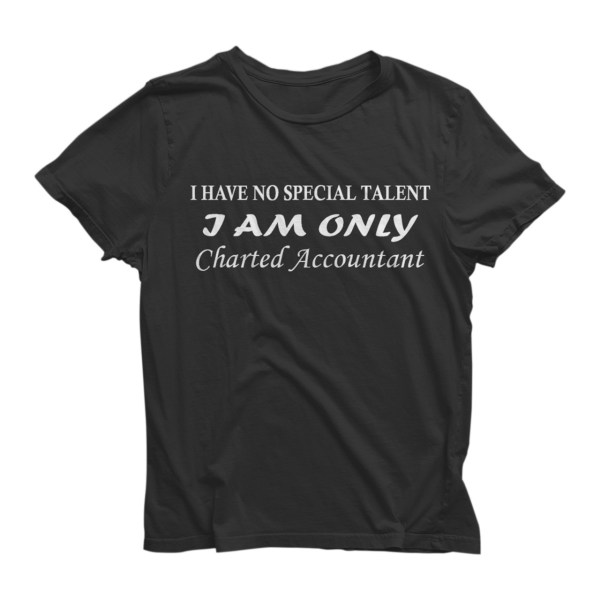 I Have No Special Talent Half Sleeve Black T-Shirt