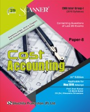 CMA Inter Scanner Group-I (2016 Syllabus) Paper- 8 Cost Accounting Regular Edition