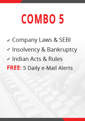 Combo 5 - Company & SEBI Laws, Insolvency & Bankruptcy and Indian Acts & Rules Module