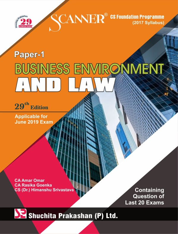 Scanner CS Foundation Programme (2017 Syllabus) Paper-1 Business Environment and Law Regular Edition
