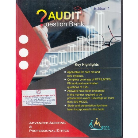 CA Final Advanced Auditing & Professional Ethics New & Old Syllabus Concept  & Question COMBO BOOK By CA Sanidhya Saraf Applicable for Nov 2019 &