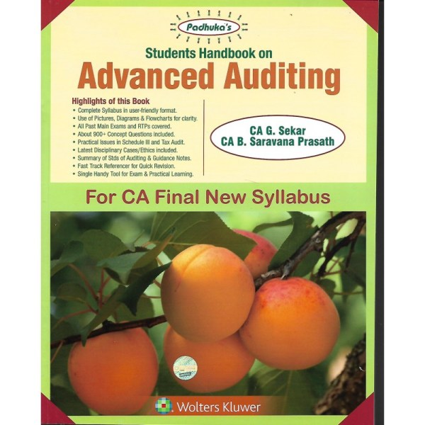 ADVANCED AUDITING BY CA G.SEKAR & CA B.SARAVANA PRASATH (NEW SYLLABUS) CA-FINAL