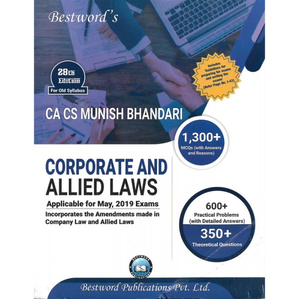 CA FINAL CORPORATE AND ALLIED LAWS BY MUNISH BHANDARI (OLD SYLLABUS) APP. FOR MAY 2019 EXAM
