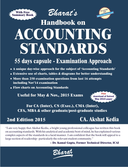 AC Inter ACCOUNTING STANDARDS (with FREE Summary Book) CA. Akshat Kedia